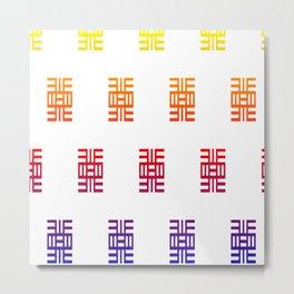 Adinkra symbols Metal Print