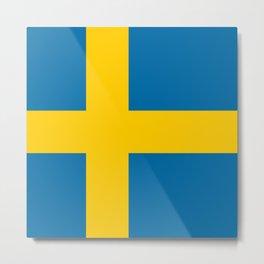 Flag: Sweden Metal Print