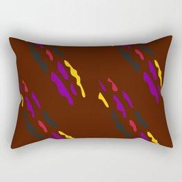 Luxury folk ornaments brown Rectangular Pillow