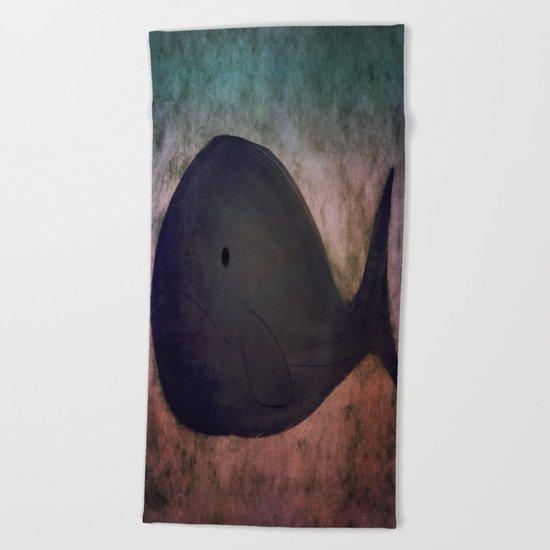 Whale-167 Beach Towel