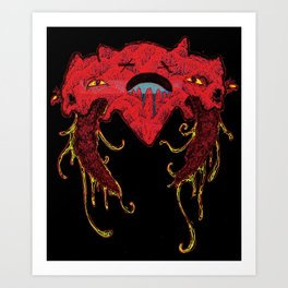 i heart you like this Art Print