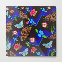 Butterfly Meetup Metal Print