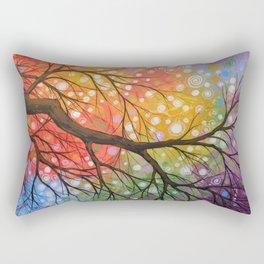Abstract Art Landscape Original Painting ... Bursting Sky Rectangular Pillow