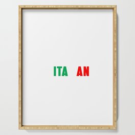 Im not yelling Im italian shirt Italian pride Serving Tray