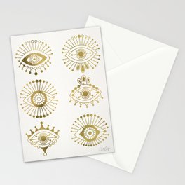 Evil Eyes – Gold Palette Stationery Cards