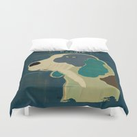 beagle Duvet Covers featuring the beagle by bri.buckley