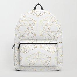 Golden Geometric Grids Backpack