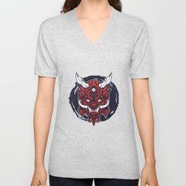Devil Krampus Evil Perchten Run Unisex V-Neck