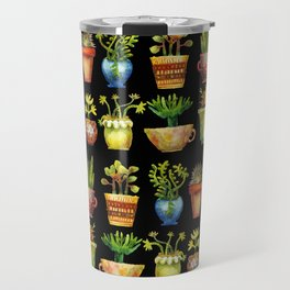 Succulents All in a Row Travel Mug
