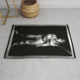 SRV - Portrait - Black and White Rug
