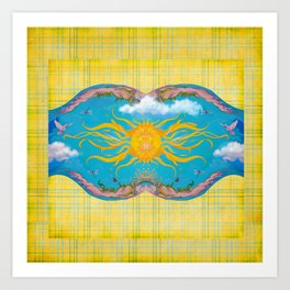 Sun Worship Art Print