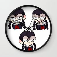 dangan ronpa Wall Clocks featuring Fukawa by dartty