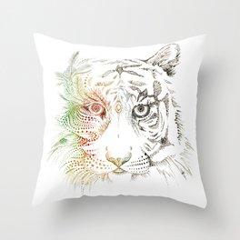 Sumatran Tiger VS Palm Oil Throw Pillow