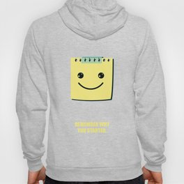 Lab No.4 -Remember Why You Started Business Quotes Poster Hoody
