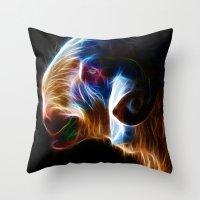 ram Throw Pillows featuring Ram by Veronika