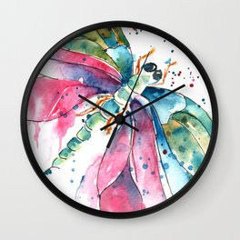 Vibrant Dragonfly Wall Clock