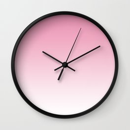 Aria Pink and White Gradient Wall Clock