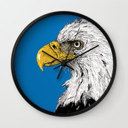 Bald Eagle Portrait Wall Clock