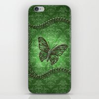 decorative iPhone & iPod Skins featuring Decorative butterfly by nicky2342
