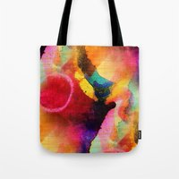 circles Tote Bags featuring Circles by mimulux