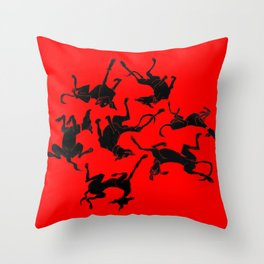 greyhound yoga Throw Pillow