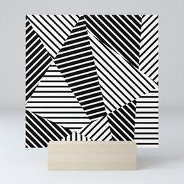 Abstract Striped Triangles Mini Art Print
