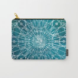 Rosette Window - Teal Carry-All Pouch