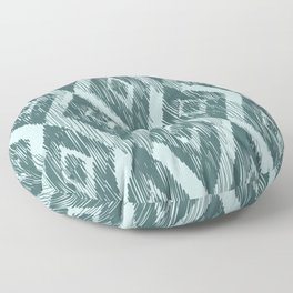 Pine and Mint Ikat Floor Pillow