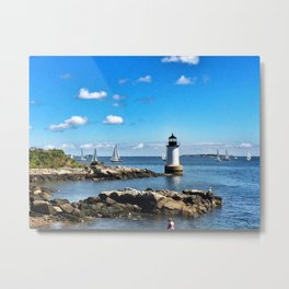 Winter Island Lighthouse Metal Print