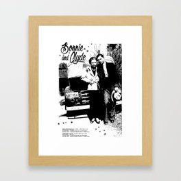 Bonnie and Clyde - Retro Poster - Vintage - Gangster - Outlaw Framed Art Print