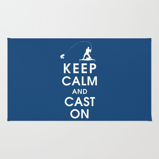 Keep Calm and Cast On Rug