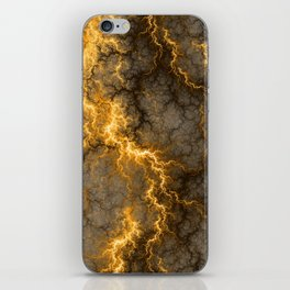 Wild Electricity - Gold iPhone Skin