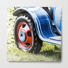 wheel of old tractor Metal Print