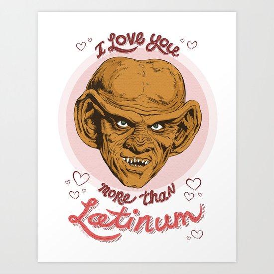 "Star Trek Valentine - ""I Love You More Than Latinum"" Art Print"