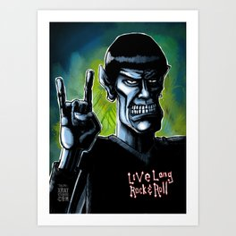 Live Long Rock & Roll Art Print