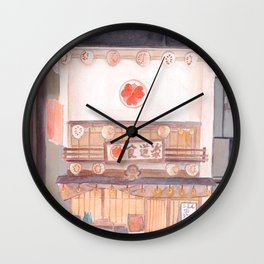 A shop front in Japan Wall Clock