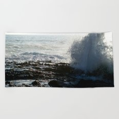 On the Rocks, With a Twist Beach Towel