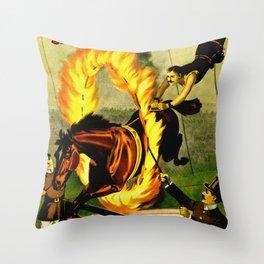 Barnum & Bailey Circus - Equestrian Throw Pillow