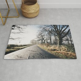 Winter road cycling Rug