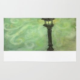 Lamp Post in Green Rug