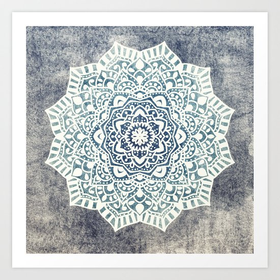Fancy Boho Mandala Art Print