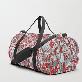 The letter matrix RED Duffle Bag