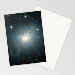 Dusty spiral galaxy Stationery Cards