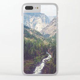 Yosemite from Nevada Fall Clear iPhone Case