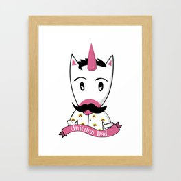 Unicorn Dad Framed Art Print