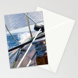 Sailing in the bay of Palma de Mallorca- Nautical Photography- Sailing Photography  Stationery Cards
