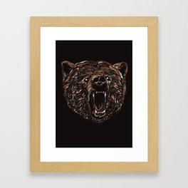 WILD BEAR Framed Art Print