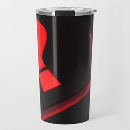 red question mark on hexagons - 3D rendering Travel Mug