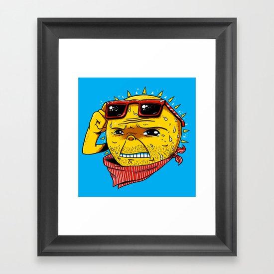 Damn, It's Hot Framed Art Print