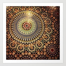 Moroccan Tiles. Art Print